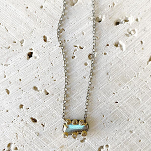 Labradorite Diamond Overlaid Necklace Necklace Robindira Unsworth
