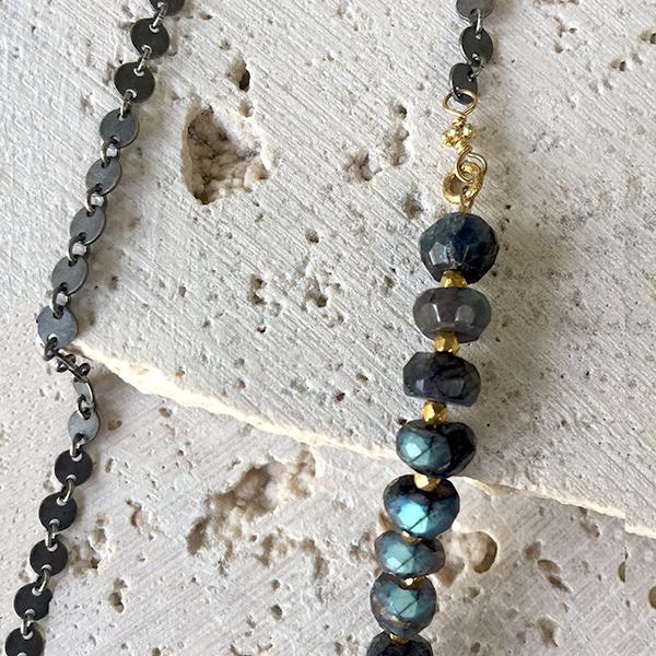 Labradorite Layering Necklace Necklace Robindira Unsworth