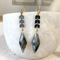 Labradorite Marquis Drop Earrings Earrings Robindira Unsworth
