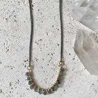 Labradorite Mixed Metal Necklace Necklace Robindira Unsworth