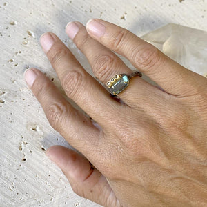 Labradorite Overlaid Diamond Ring Ring Robindira Unsworth