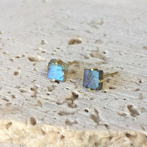 Labradorite Stud Earrings Earrings Robindira Unsworth