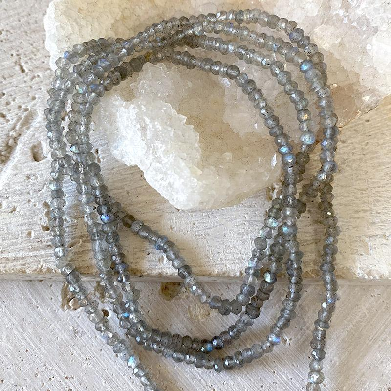 Labradorite Tassel Necklace Necklace Robindira Unsworth
