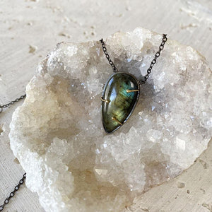 Labradorite Teardrop Necklace Necklace Robindira Unsworth