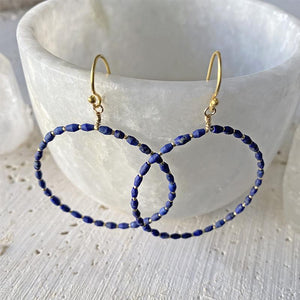 Lapis Hoop Earrings Earrings Robindira Unsworth
