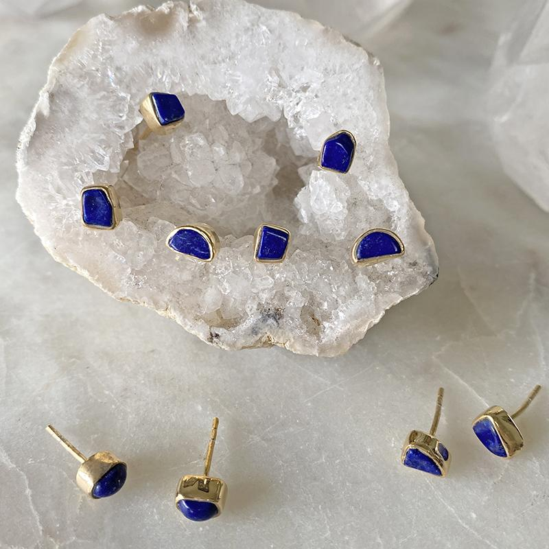Lapis Stud Earrings Earrings Robindira Unsworth