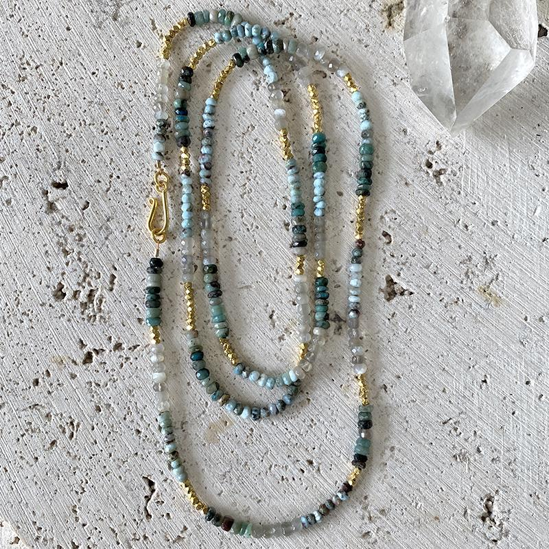 Larimar Moonstone Opal Necklace Necklace Robindira Unsworth