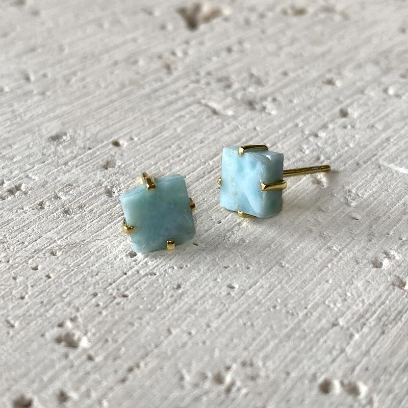 Larimar Stud Earrings Earrings Robindira Unsworth