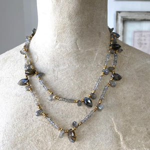 Labradorite Marquis Necklace Necklace Robindira Unsworth