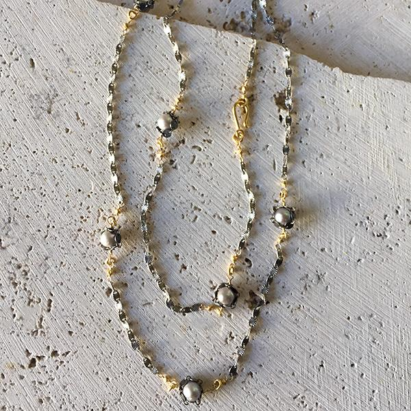 Long Pearl Layering Necklace Necklace Robindira Unsworth
