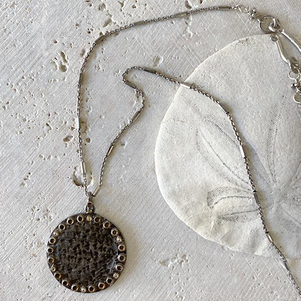 Mixed Metal Pendant Necklace Necklace Robindira Unsworth