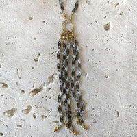 Mixed Metal Tassel Necklace Necklace Robindira Unsworth