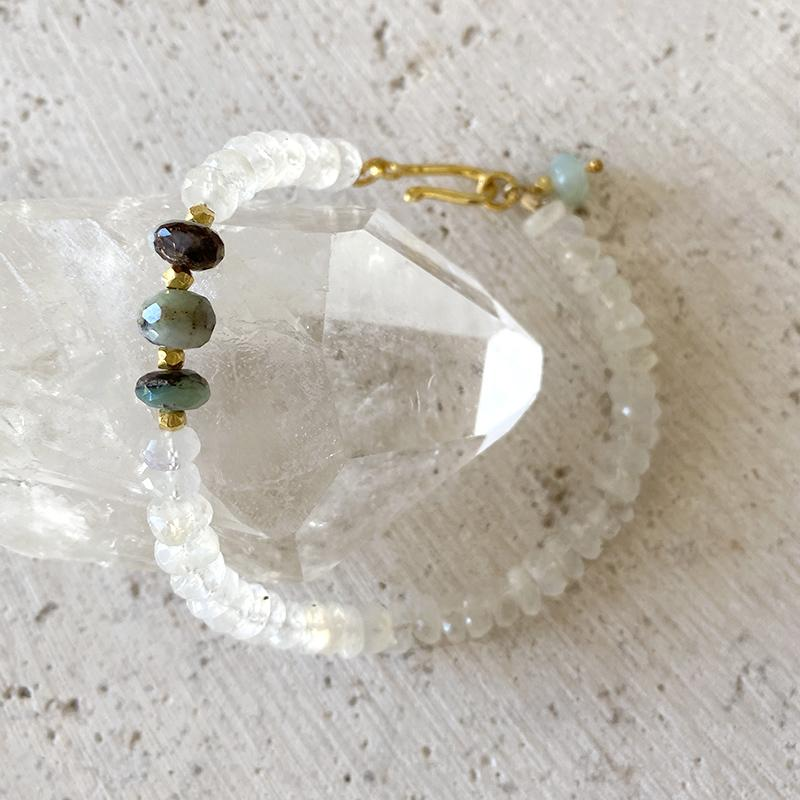 Moonstone And Opal Bracelet Bracelet Robindira Unsworth