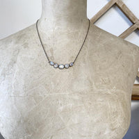 Moonstone Bezel Collar Necklace Necklace Robindira Unsworth