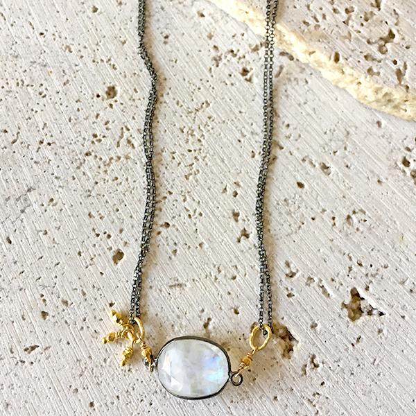 Moonstone Collar Necklace Necklace Robindira Unsworth
