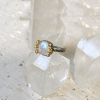Moonstone Diamond Cluster Ring Ring Robindira Unsworth