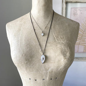 Moonstone Diamond Pave' Star Necklace Necklace Robindira Unsworth