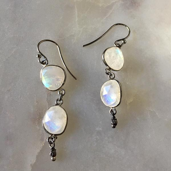 Moonstone Drop Earrings Earrings Robindira Unsworth