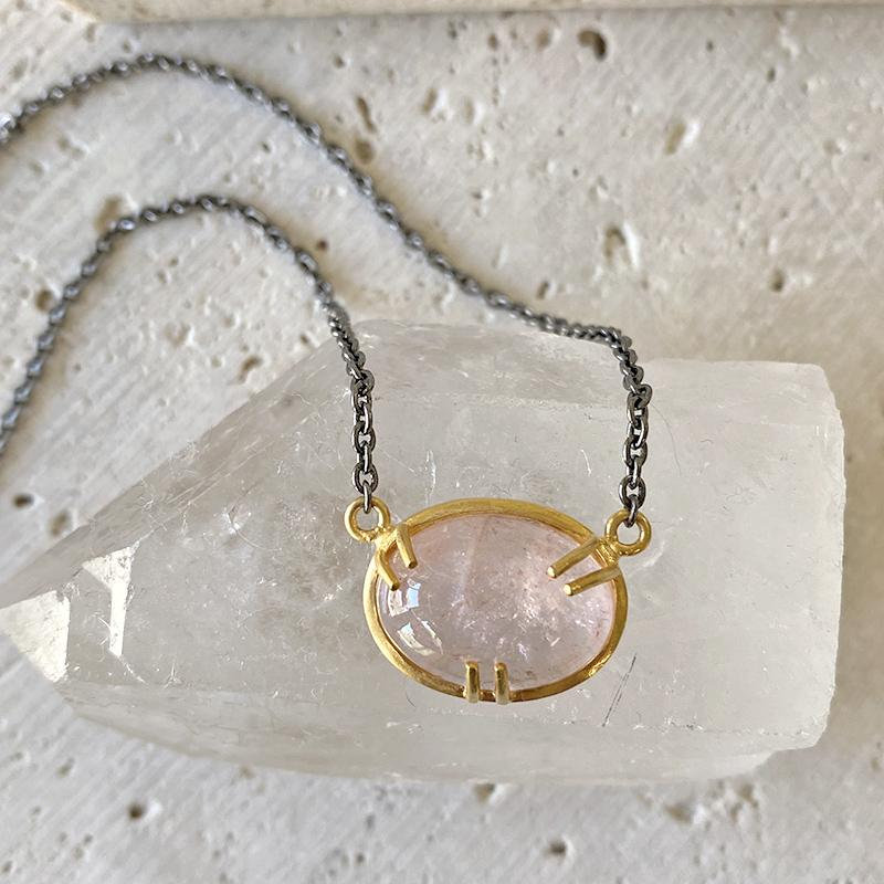 Morganite Pendant Necklace Necklace Robindira Unsworth