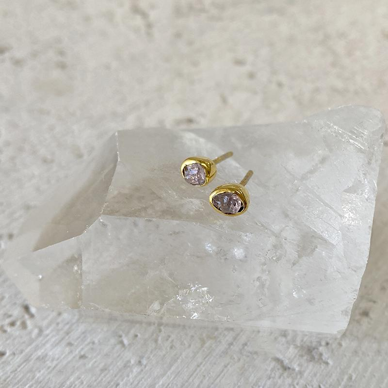 Morganite Stud Earrings Earrings Robindira Unsworth