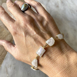 Moonstone Organic Shaped Bracelet