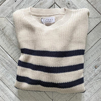 Velvet Taupe Stripe Sweater
