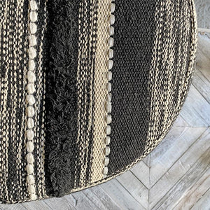 Black Metallic Pouf