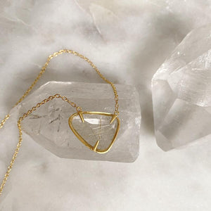 NEW #13 Golden Rutilated Quartz Necklace Necklace Robindira Unsworth