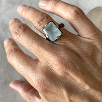 Oceanic Aquamarine Statement Ring
