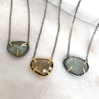 Oceanic Moss Aquamarine Necklace Necklace Robindira Unsworth