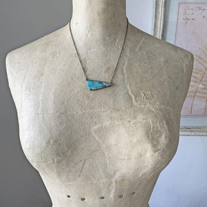 Opalized Wood Diamond Necklace