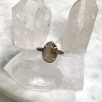 NEW #20 Oxidized Moss Agate Ring Ring Robindira Unsworth