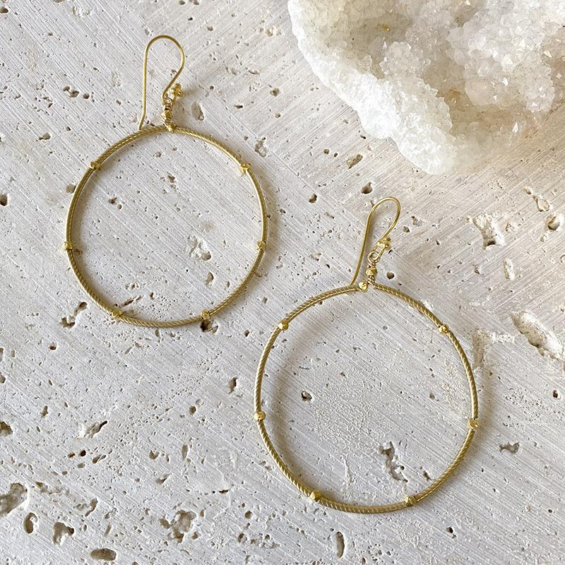 Golden Hoop Earrings Earrings Robindira Unsworth