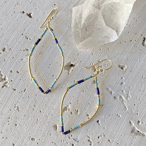 Lapis & Turquoise Moroccan Earrings