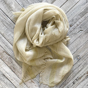 Taupe Metallic Gold Scarf