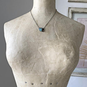 Peruvian Opal Diamond Collar Necklace