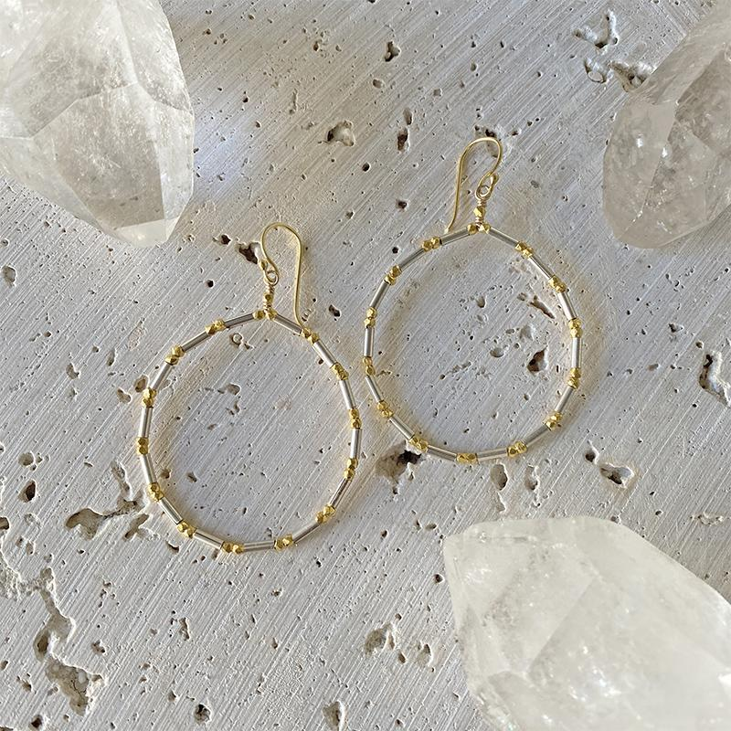 Shimmering Hoop Earrings