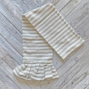 Taupe Striped Tea Towel