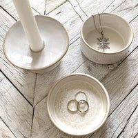 Stoneware Candle Holder Home Accessory Creative Co-op