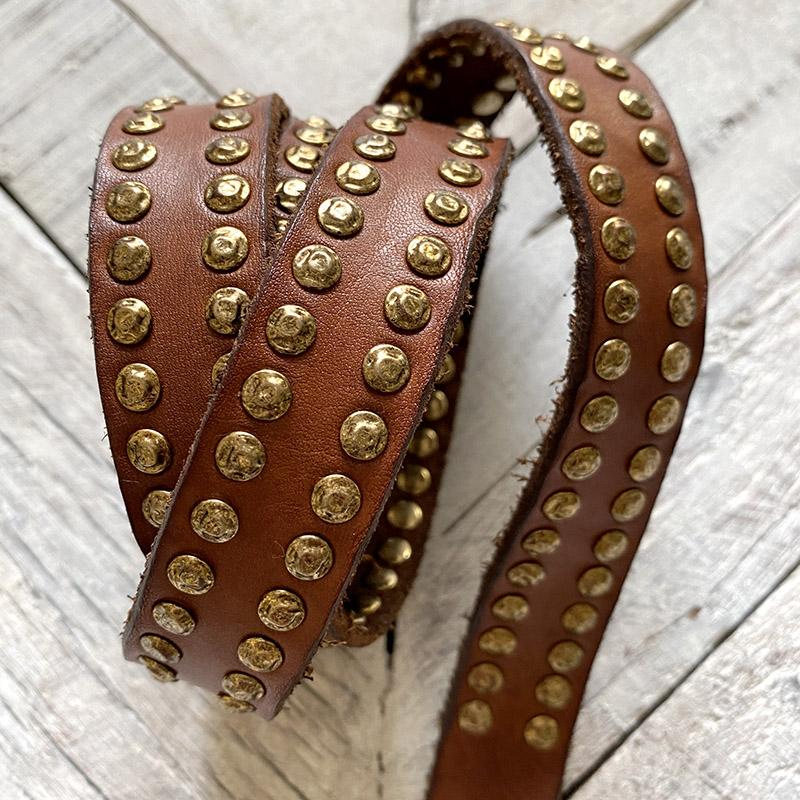 #NEW15 Campomaggi Brass Studded Belt BELT Campomaggi