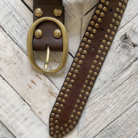 #NEW16 Campomaggi Double Studded Belt BELT Campomaggi