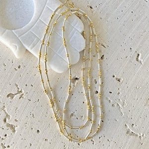 Shimmering Long Layering Necklace