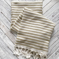 NEW#17 Stripped Turkish Towel Home Accessory Together Textiles