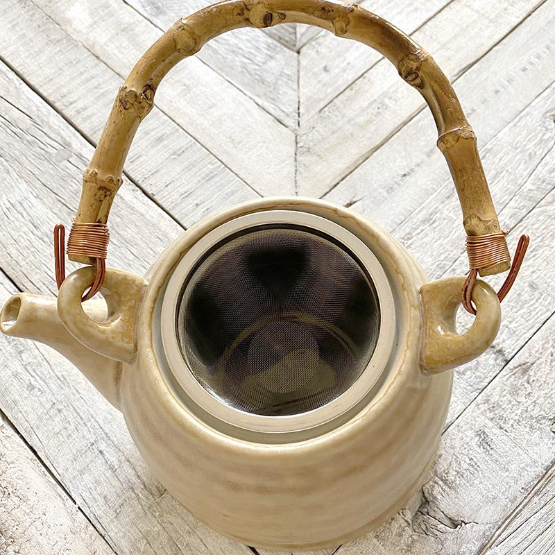 Earthen Collection Stoneware Teapot Home Accessory Creative Co-op