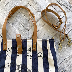 Campomaggi Striped Shopping Bag