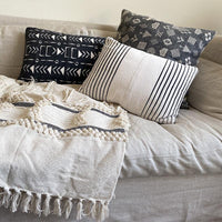 Bohemian Tassel Throw Pillow Indaba