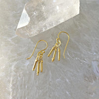 Petite Golden Fringe Earrings