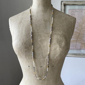 Pearl and Moonstone Layering Necklace Necklace Robindira Unsworth