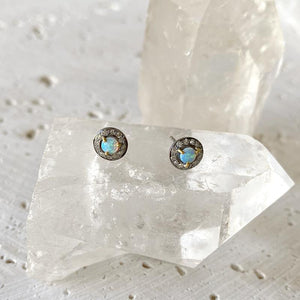 Petite Australian Opal Stud Earrings Earrings Robindira Unsworth
