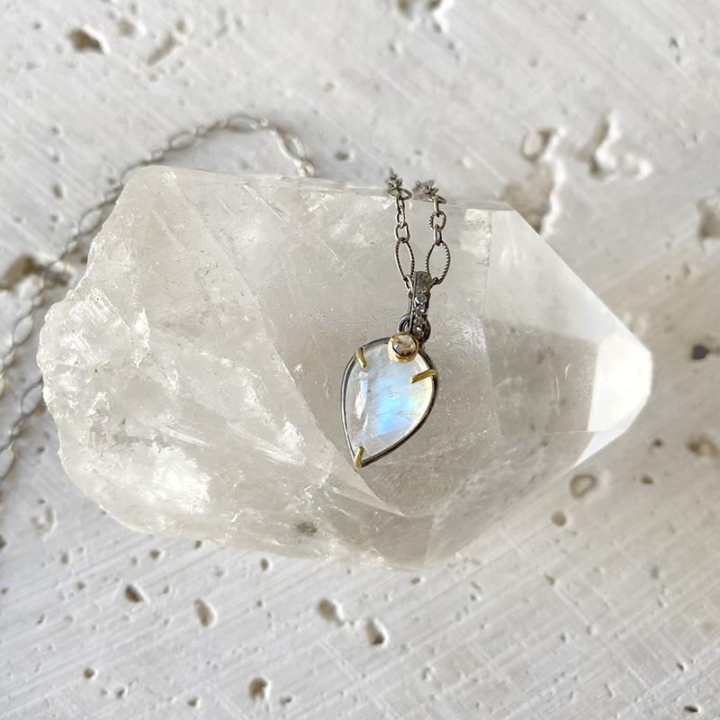Petite Moonstone Pendant Necklace Necklace Robindira Unsworth